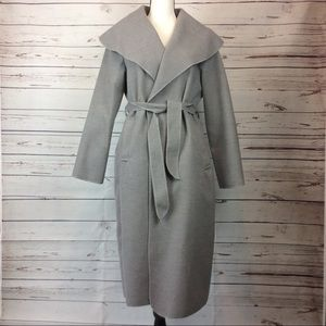 Luigi Moda Shawl Wrap Grey Coat